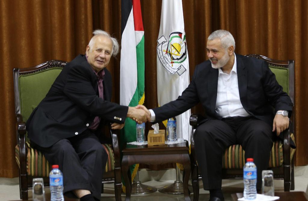 تفاصيل اجتماع حنا ناصر مع هنية بغزة