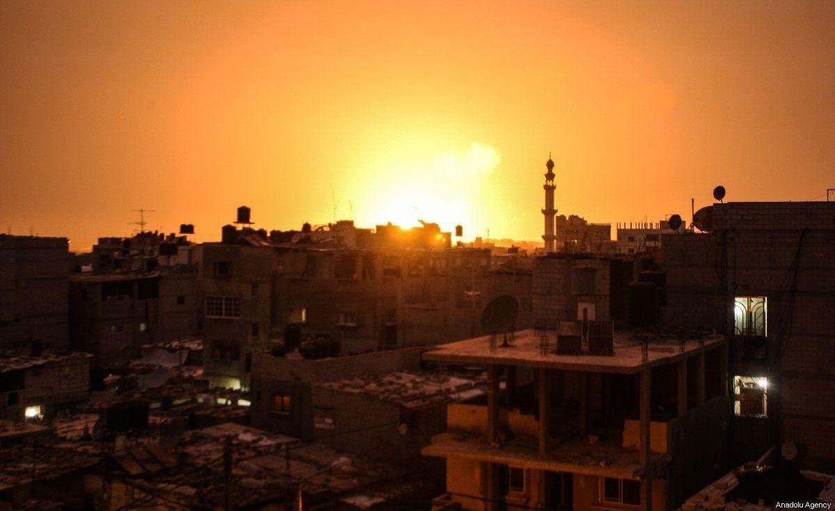 7 إصابات بقصف إسرائيلي جنوب قطاع غزة