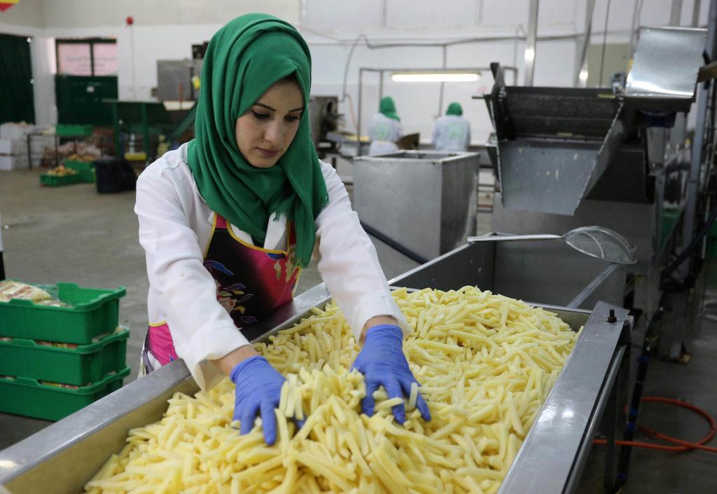 مصنع للبطاطس المقلية في غزة يوفِّر فرص عمل للنساء ويدعم المزارعين