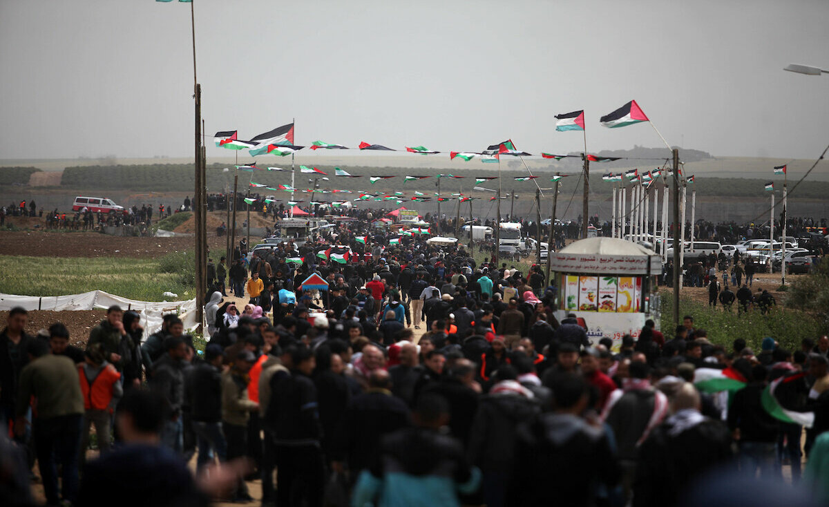 """مسيرات العودة في غزة تواصل فعاليتها بجمعة """"معاً لمواجهة التطبيع"""""""