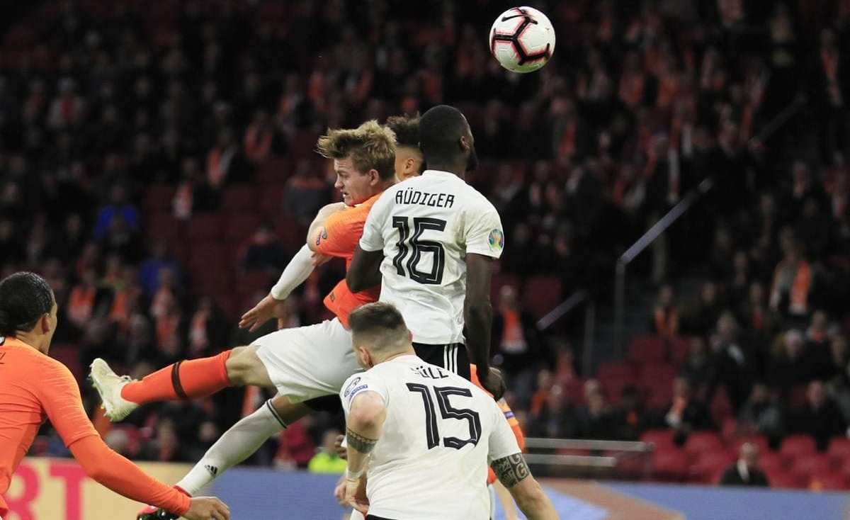 """بالفيديو… منتخب ألمانيا """"يصعق"""" هولندا بهدف قاتل في تصفيات """"يورو2020"""""""