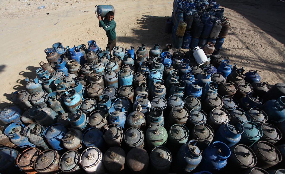 غزة: وزارة الاقتصاد تحدد سعر أسطوانة الغاز