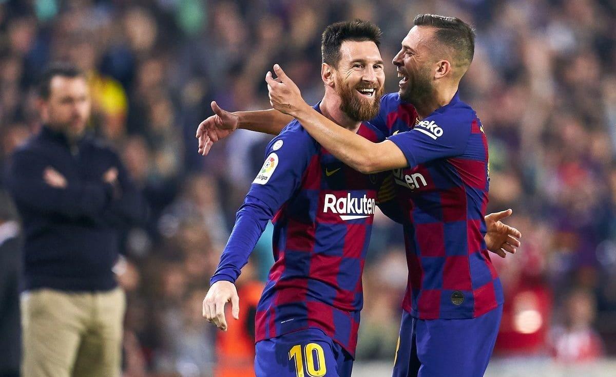 برشلونة تعود للقمة بخماسية أمام هدف الوليد