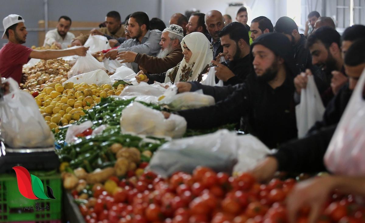 أسعار الأسماك والخضروات في أسواق غزة