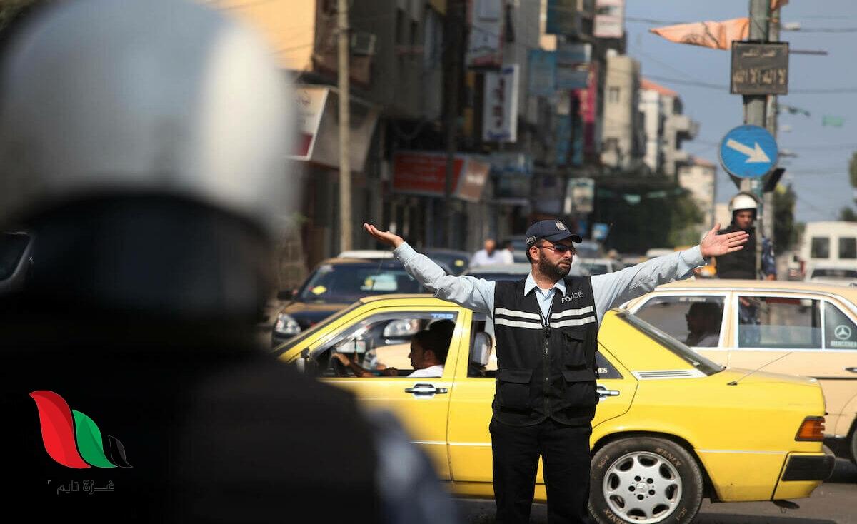 الحركة المرورية في شوارع غزة
