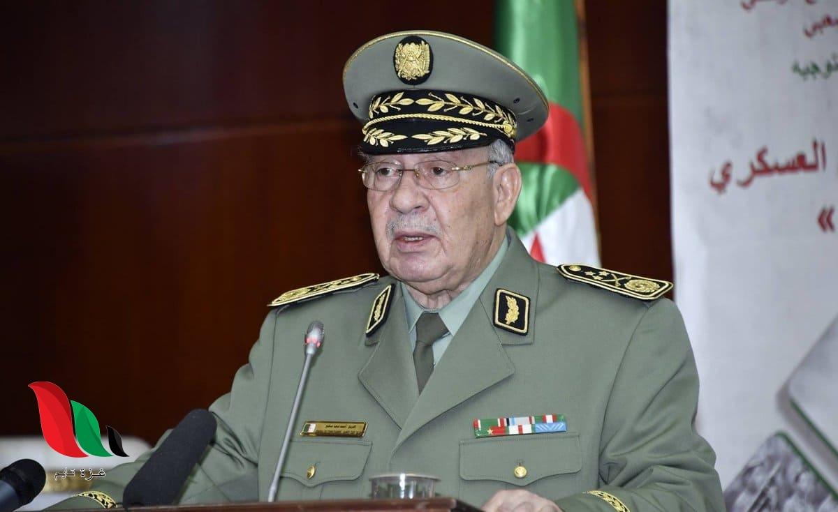 وفاة رئيس الأركان الجزائري القايد صالح