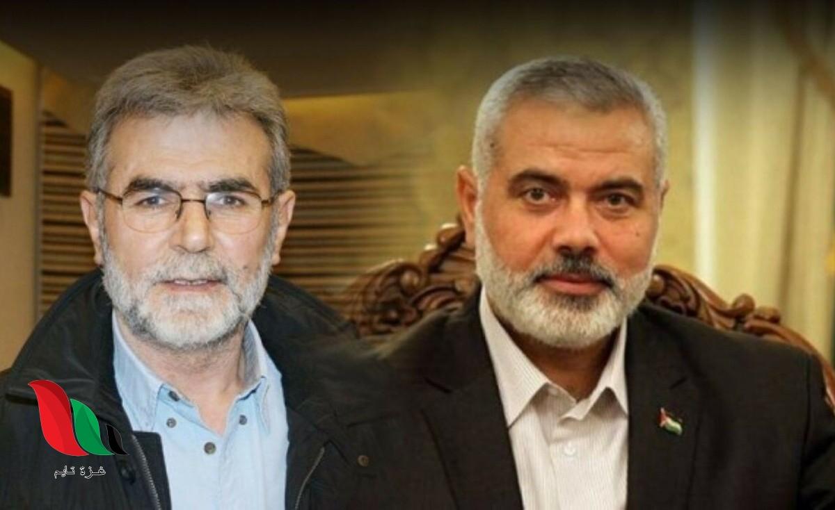 هنية والنخالة يبحثان ملفات غزة مع المصريين