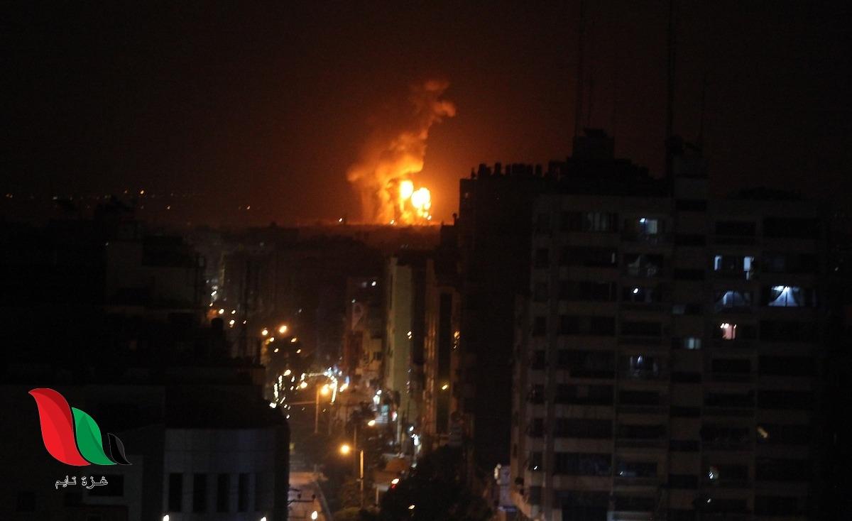 شاهد: مقاتلات الاحتلال تقصف أهدافًا في قطاع غزة