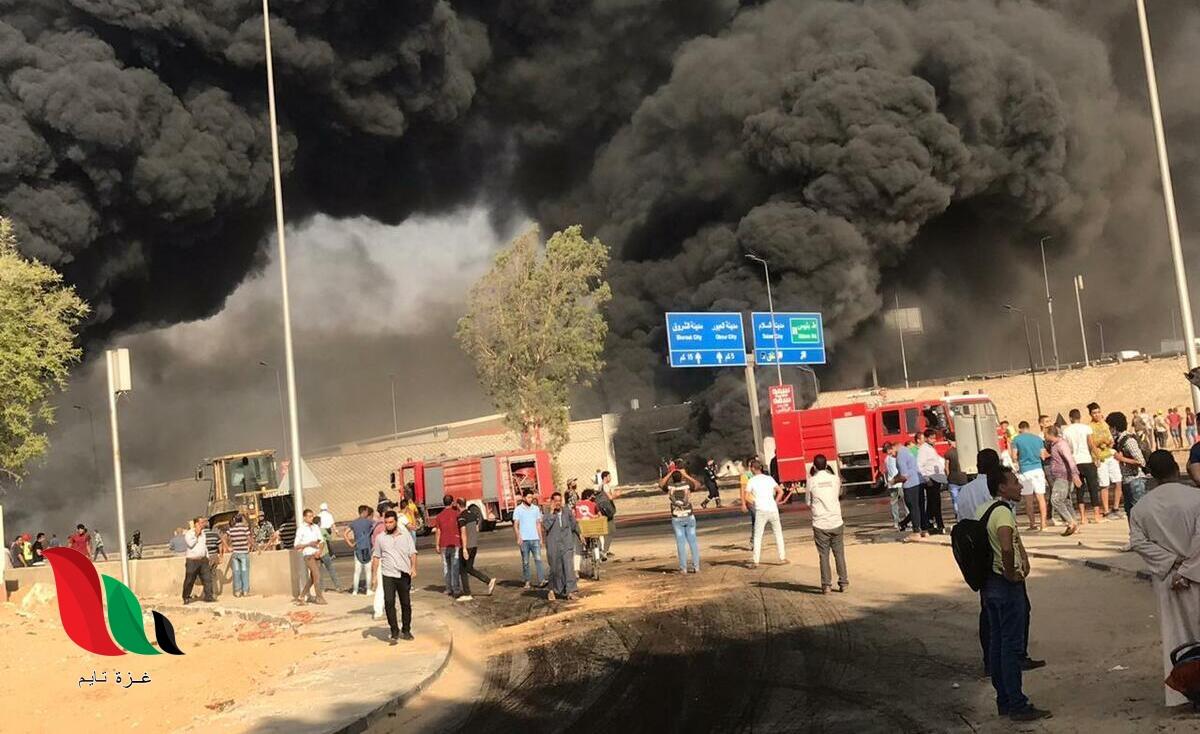فيديو: مشاهد مروعة في حادث حريق موقف العاشر على طريق العبور مصر الاسماعيلية اليوم
