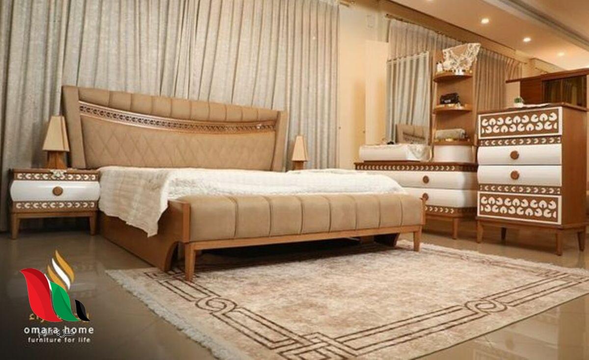 صور غرف نوم للعرسان مودرن كاملة بالدولاب والتسريحة 2021
