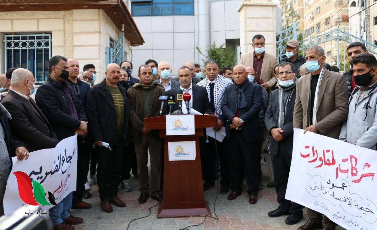 الإرجاع الضريبي يتسبب بإفلاس شركات المقاولات في غزة