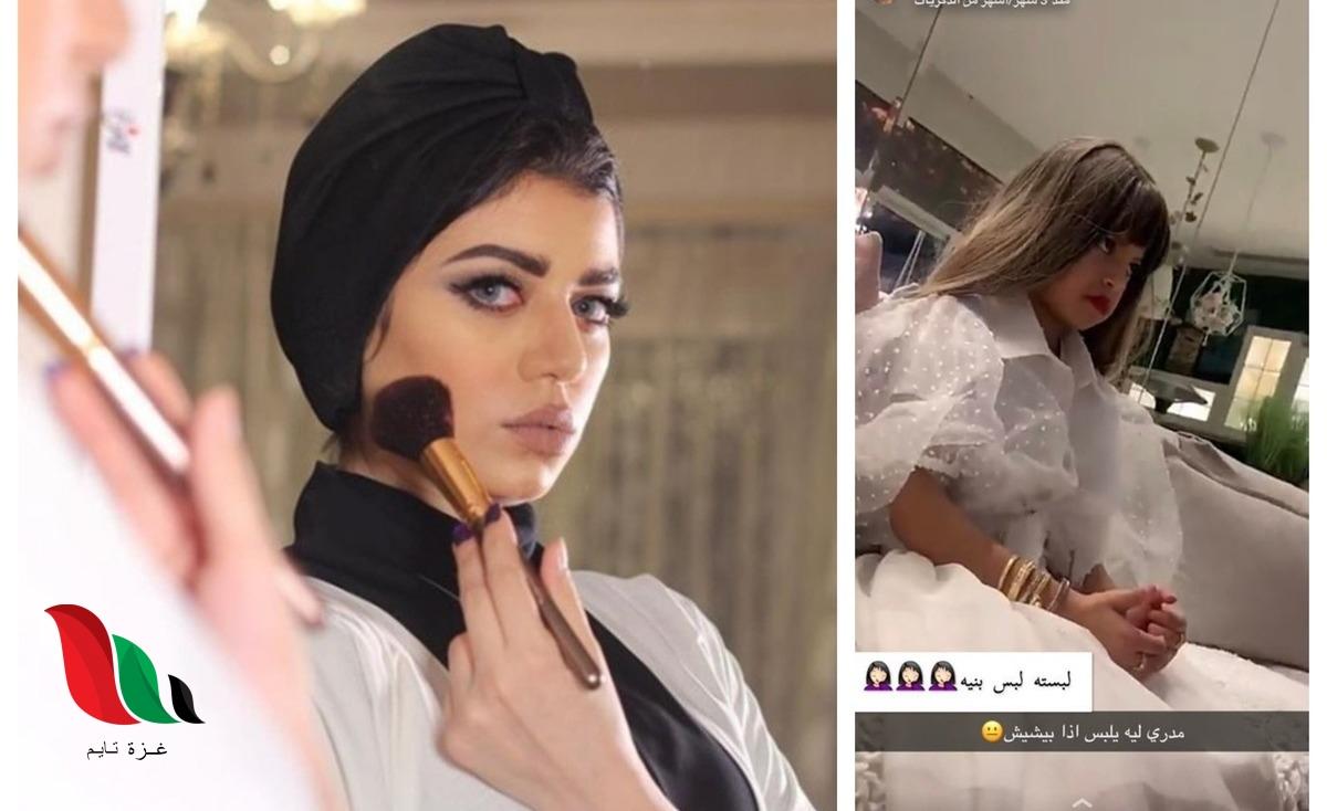 صور .. نجلاء عبدالعزيز تلبس ولدها فستان والأمن يعتقلها