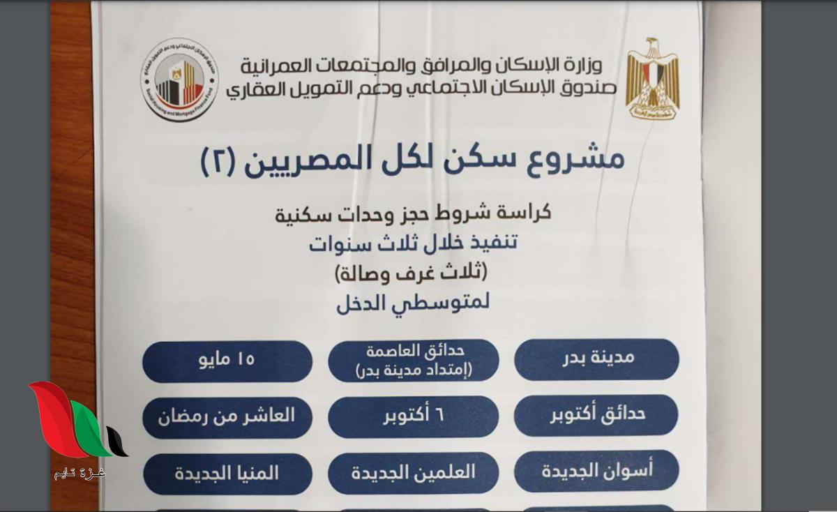 كراسة شروط مبادرة التمويل العقاري 2021 بمصر